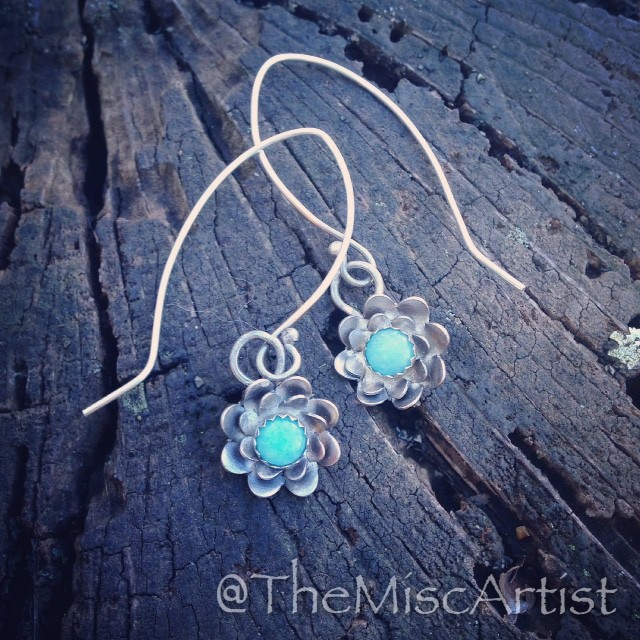 Amazonite Flower Earrings