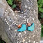 Southwestern Stone Bird Earrings