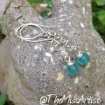 Aqua Summer Swirl Earrings