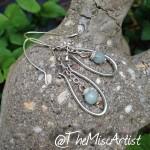 Sterling Silver Columbia Blue Earrings